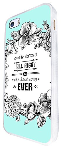 503 - Floral We All Danced All Night To The Best Song Ever Design iphone SE - 2016 Coque Fashion Trend Case Coque Protection Cover plastique et métal - Blanc
