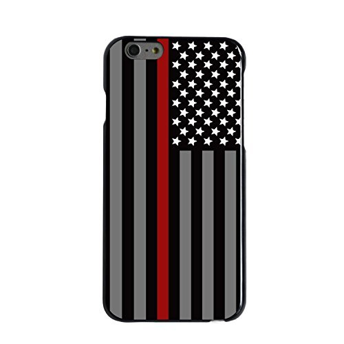Thin Red Line Fire Fighter Department -Rubber Case for Apple iPhone 6 Plus, 6S Plus (5.5