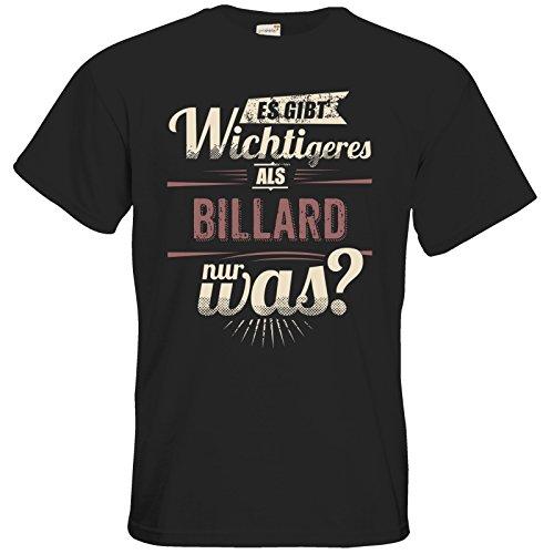 getshirts - RAHMENLOS® Geschenke - T-Shirt - Es gibt wichtigeres als Billard - Sport red - black XXL
