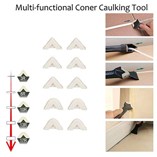 Hunputa 10 Pcs Silicone Sealant Spreader Spatula Scraper Cement Caulk Removal Tool by Hunputa-UH (Image #3)