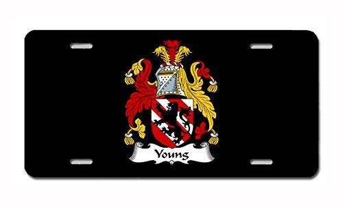 (Carpe Diem Designs Young Coat of Arms/Young Family Crest (Ireland) License/Vanity Plate - Made in The U.S.A.)