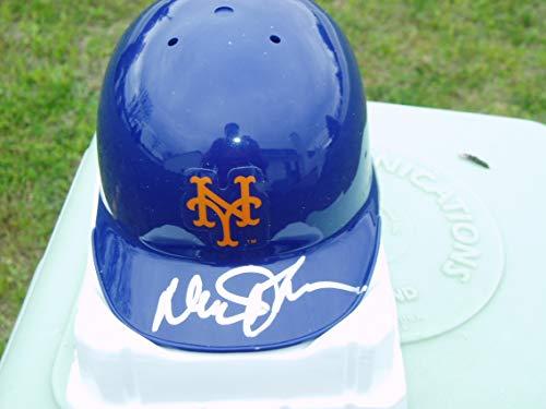 Throwback Mini Batting Helmet - Davey Johnson signed New York Mets throwback mini helmet JSA COA Nationals