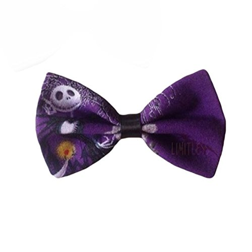The Nightmare Before Christmas Barrette Clip Hair Bow (Small, Purple)