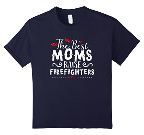 Kids MOTHER'S DAY T Shirt for Moms of Firefighters & Firemen 10 Navy