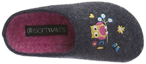 Softwaves Mädchen Hausschuh Pantoffeln Blau (830 NAVY)