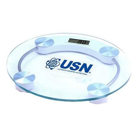 USN Cuerpo de cristal con un peso de grasa corporal báscula de baño digital talla única: Amazon.es: Hogar