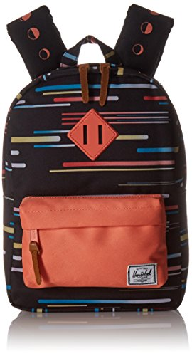 Herschel Supply Co. Heritage Kids Backpack, Comets/Fresh Salmon/Fresh Salmon Rubber