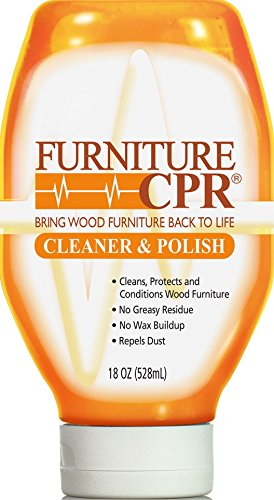 Furniture CPR (18oz Bottle) – Cleans, Polishes & Restores Wood Furniture with No Wax Build-up – Shine Adjusts to Any Finish – Conditions Tables, Cabinets, Trim, Doors & (Amish Dining Room China Cabinet)