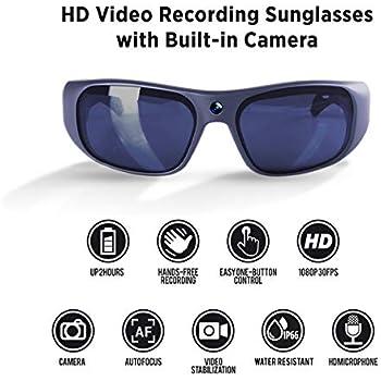 99cfea20ff GoVision Apollo 1080p HD Camera Glasses Water Resistant Video Recording  Sport Sunglasses - Titanium