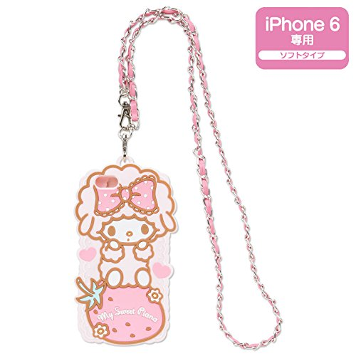 [My Melody] My sweet piano with neck strap iPhone case of 6 -