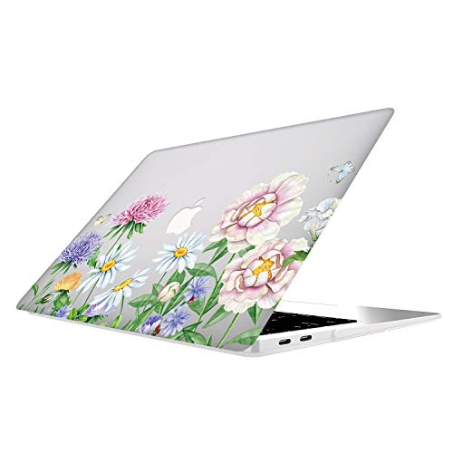 MacBook Pro Retina 13 Inch Case - AOGGY Smooth Rubber Coating Art Flowers Design Hard Shell Cover Case - for Model A1502 A1425 MacBook Pro 13.3 Inch with Retina Display(NO CD-ROM) - chrysanthemum1 (Apple Macbook Pro 13 Price In Pakistan)