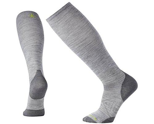 SmartWool Men's PhD Ski Ultra Light Socks (Light Gray) (Ski Light Ski Socks)