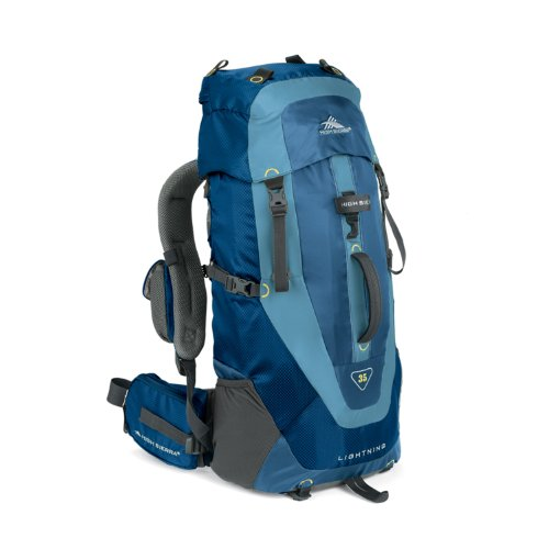 High Sierra Tech Series 59105 Lightning 35 Internal Frame Pack Pacific, Nebula, Ash 2135 Cubic Inches 24.5x13x8 Inches 35 Liters, Outdoor Stuffs