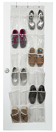 vinyl over the door shoe organizer with 24 reinforced pockets organize your shoes with this shoe rack over the door organizer and save space hang on
