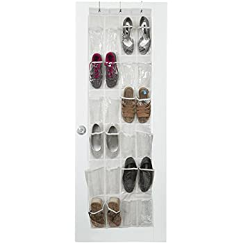 Vinyl Over the Door Shoe Organizer with 24 Reinforced Pockets. Organize your shoes with this  sc 1 st  Amazon.com & Amazon.com: Vinyl Over the Door Shoe Organizer with 24 Reinforced ...