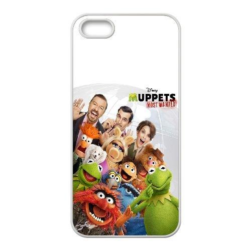 Muppets Most Wanted coque iPhone 4 4S Housse Blanc téléphone portable couverture de cas coque EOKXLKNBC23561