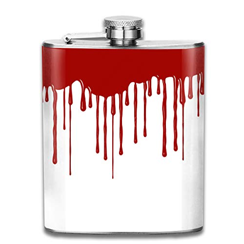 Jist Zovi Funnel Liquor Alcohol Flowing Blood Horror Halloween Kettle Jug Rum Container Flask Pocket for Adults ()