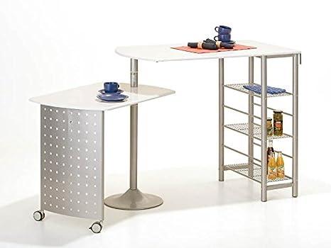 Tavolo Alto Per Cucina : Meubletmoi tavolo alto da bar bancone piano di lavoro bianco