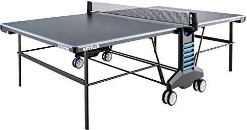 - Kettler #SketchPong Indoor/Outdoor Table Tennis Table, 2-Player Bundle with Cover