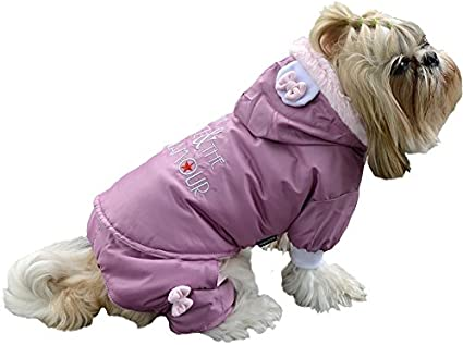 color rosa Doggy Dolly W100/Nieve Traje para perros Glitz y glamour