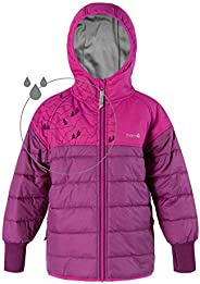 Therm Kids Winter Coat, Lightweight Waterproof Puffer Jacket with Magic Pattern - Toddler Kids Youth
