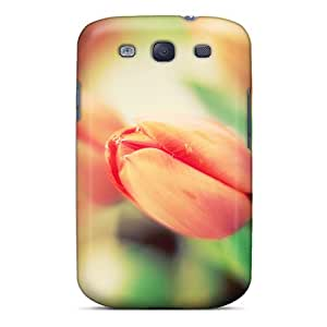 High Quality Shock Absorbing Case For Galaxy S3-early Tulips