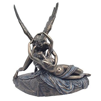 - Top Collection Cupid and Psyche Statue By Antonio Canova- God of Love Greek Mythology Sculpture in Cold Cast Bronze- 7.5-Inch Son of Venus Figurine