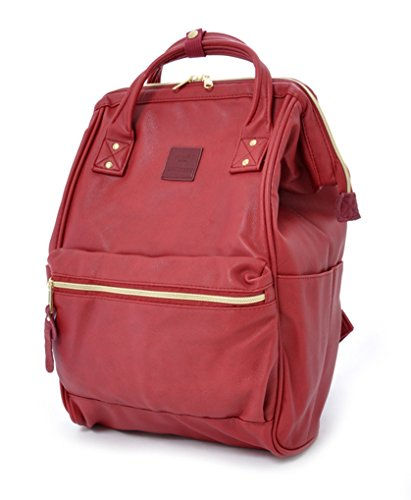 Anello Leather Square Shaped Backpack (Wine) ()
