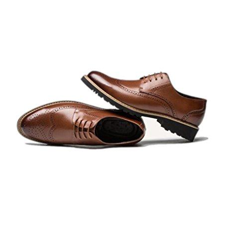 Tonda Brown Punta Morbido da Traspiranti A Uomo Fondo Scarpe Scarpe Pigro Rete Bean Casual Scarpe Business da Oxford TqnR611Bw