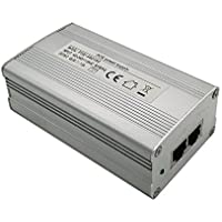 iCreatin 48V 72W Gigabit Power over Ethernet POE Injector Adapter built-in [72W High Power Supply] 1000Mbps IEEE 802.3af/at Compliant, Up to 100 Meters (328 Feet)-Aluminum case
