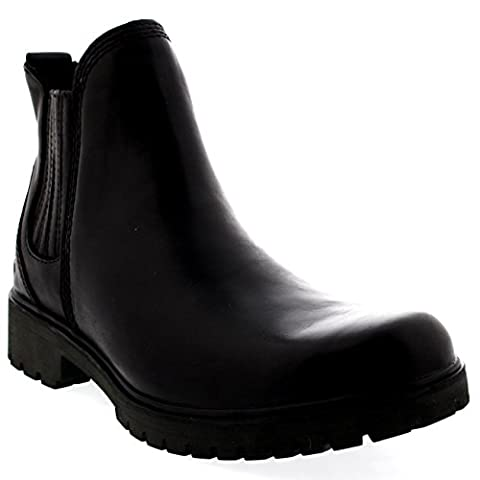 Womens Timberland Lyonsdale Chelsea Snow Black Winter Leather Ankle Boot - Chelsea Black - 8/39