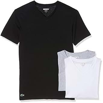 Lacoste Underwear Multipack V/n tee (3pk), Camiseta sin Mangas Hombre, (Sortiert 1), Medium