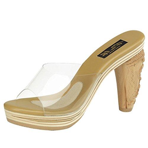 WoMen Up Hi Pin Foodwear Slippers Top Couture Retro IdqvvRw