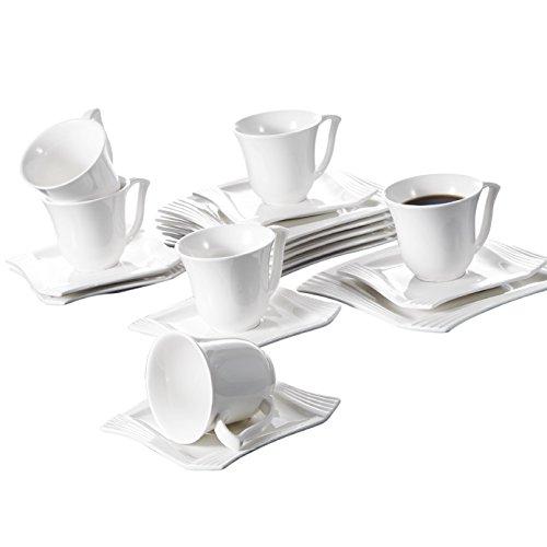 Porcelain 12 Piece Tea Set - 4