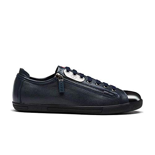 OPP Men's Classic Fashion Lace-Up Casual Leather Shoes 2016 Collection (8.5, Blue)