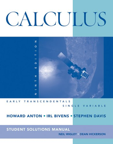 Calculus Early Transcendentals Single Variable, Student Solutions Manual