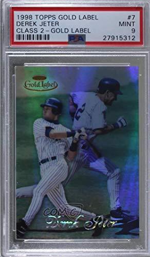 Gold 1998 Label Topps (Derek Jeter Graded PSA 9 MINT (Baseball Card) 1998 Topps Gold Label - Class 2#7)