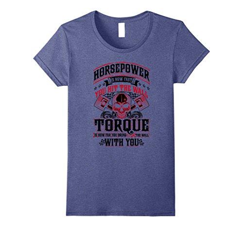 Women's Drag Racing Black Humor Hit the Wall T-Shirt Medium Heather Blue