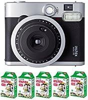 Fujifilm Instax Cámara 90, color neo classic + 5 Películas