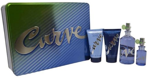 0.5 Ounce Bath Shower - Liz Claiborne Curve Women Giftset (3.4 Ounce Eau De Toilette Spray, 0.5 Ounce Eau De Toilette Spray, Body Lotion, Bath and Shower Gel)