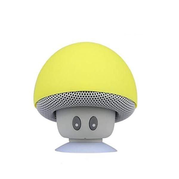 Haut-Parleur Portable Bluetooth étanche Voyage en Plein airBande dessinée Petit Champignon Bluetooth Haut-Parleur étanche Smart Petit Haut-Parleur Rouge 5.5cmx5.5cm 6