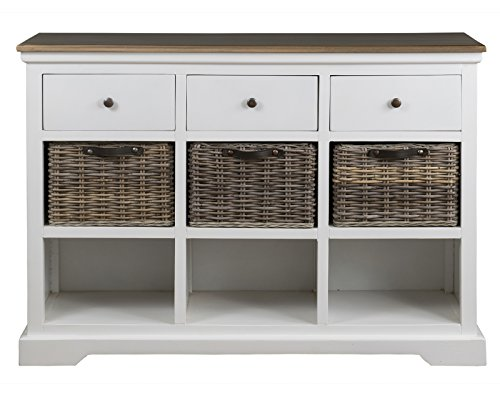 East at Main Aiden White Mahogany Sideboard - -