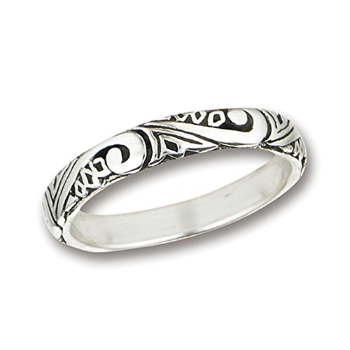 silver scroll ring - 6