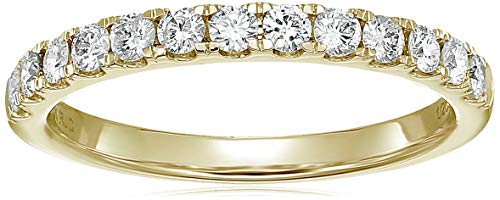 Vir Jewels 1/2 ctw Prong Set Diamond Wedding Band in 14k Yellow Gold in Size 8 ()