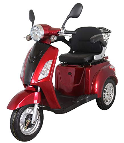 Red ZT500 Electric Mobility Scooter 3 Wheeled with Extra Accessories...