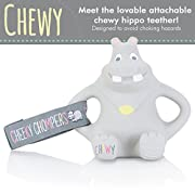 Cheeky Chompers Chewy The Hippo, Grey, One Size