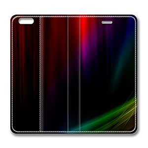 iPhone 6 4.7inch Leather Case - Rainbow Aurora Vista Fashion Luxury Protective Slim Fit Skin Leather Cover For Iphone 6 [Stand Feature] [Slim - fit] Flip Leather Case Cover for New iPhone 6