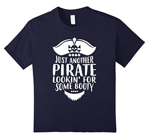 Kids Funny Pirate Lookin For Booty T-Shirt For Dudes 12 (Dude Date Halloween)