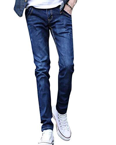 Pantaloni Uomini Casuali Denim Della Dei Degli Matita Gioventù Di Ispessenti Blaustreifen Maglietta Semplice Giovani Stile Diritti Del Sottili Jeans 1qZnrx1E