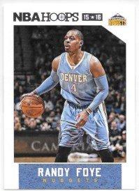 Randy Foye 2015-16 NBA Hoops Denver Nuggets Card #28